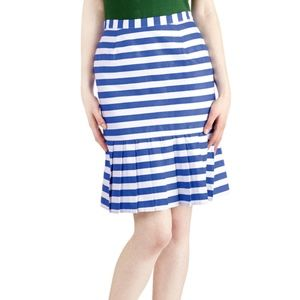 New Modcloth Pleat of Your Own Drummer Skirt